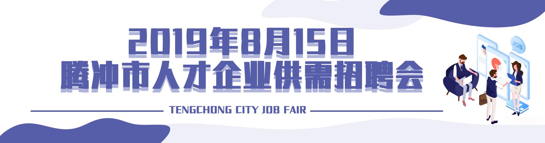 2019年8月15日腾冲市人才企业供需招聘会